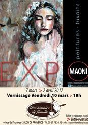 Exposition peintures et fusains Maoni