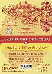 """La cour des créateurs """"Histoires d'été en Provence"""""""